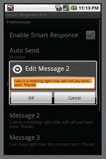 Smart Response Pro screenshot