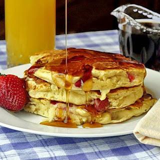 Strawberries and Cream Pancakes.