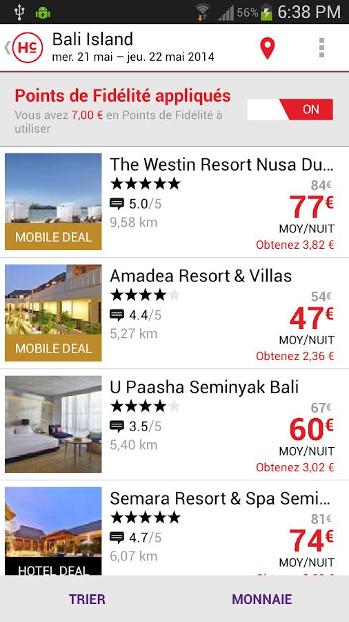 HotelClub: jusqu'à moins 70%– Capture d'écran