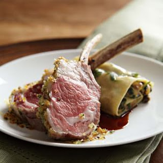 Herb-Crusted Rack of Lamb with Filled Pasta Sheets