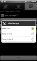 Screenshot of SMS Flow scheduler [OLD]