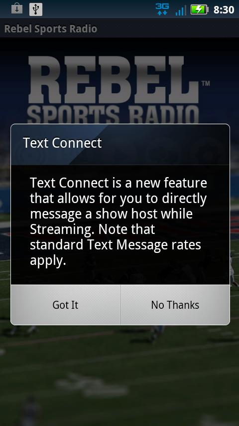 Rebel Sports Radio - screenshot