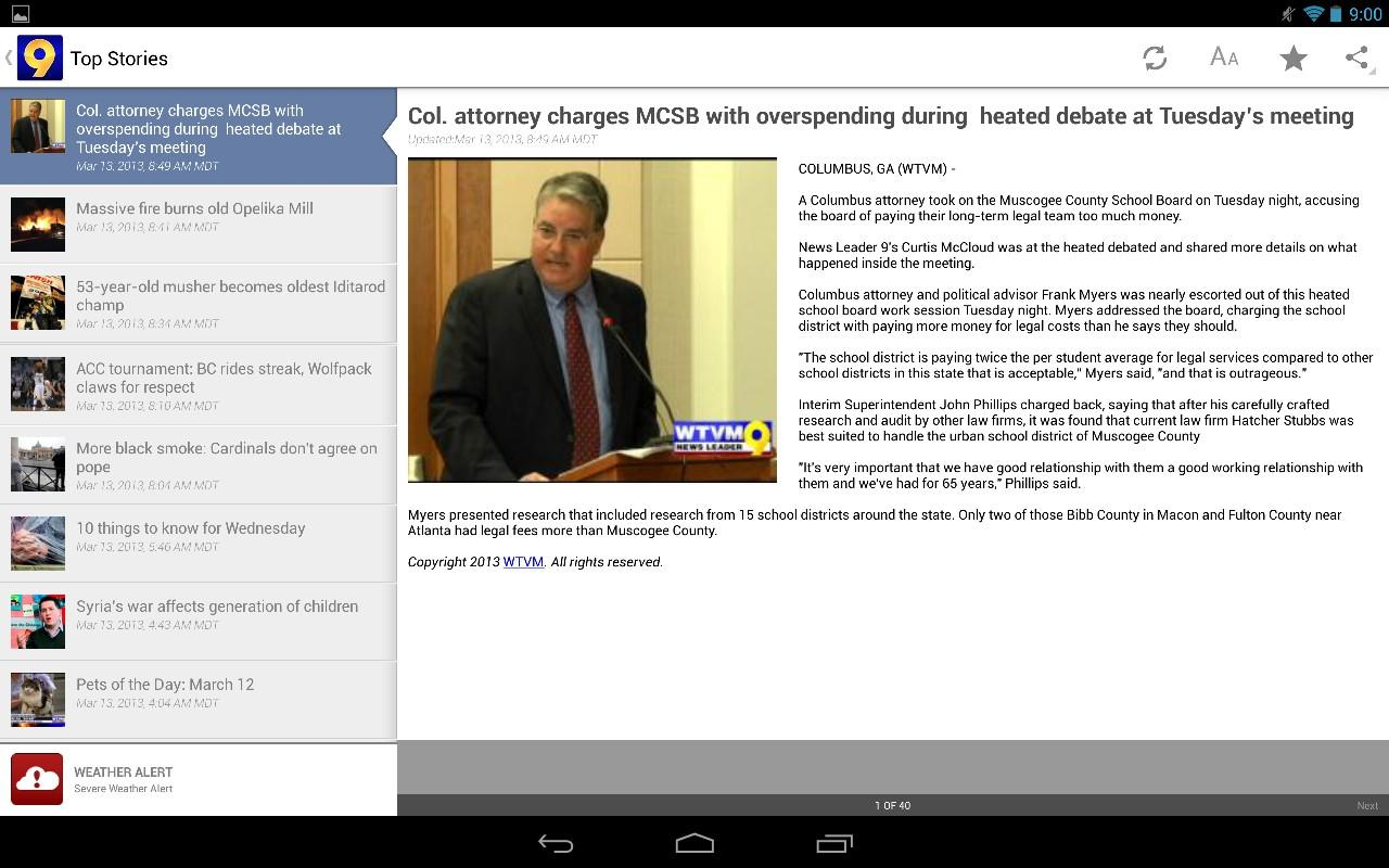 WTVM News 9 - screenshot
