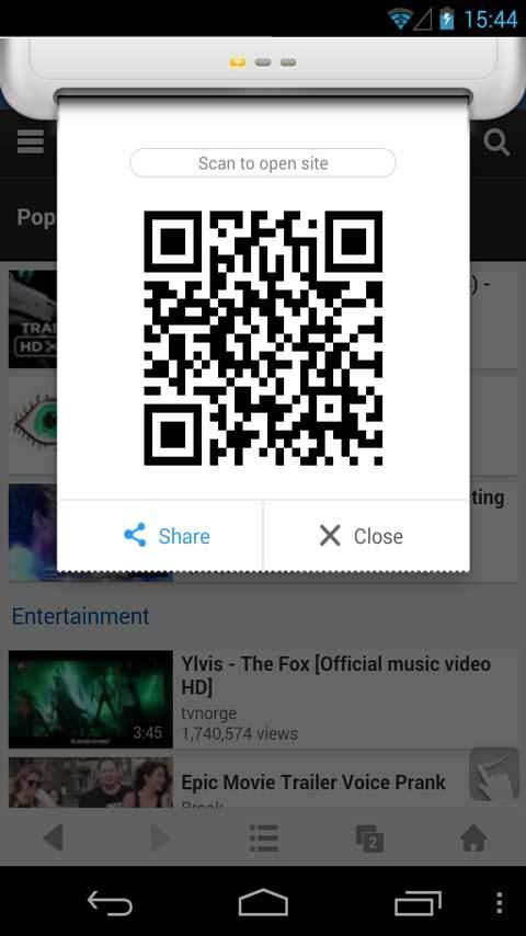 QR Code Generator - UC Browser - screenshot
