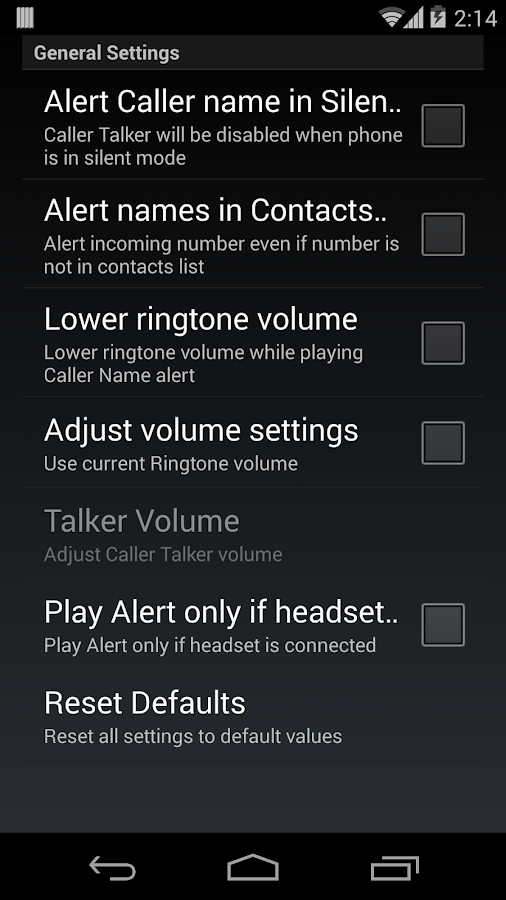 Talk Caller Name PRO- screenshot