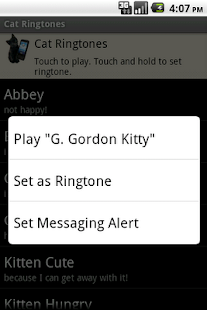 Cat Ringtones - screenshot thumbnail