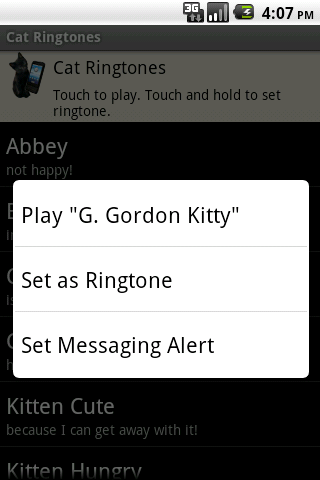 Cat Ringtones - screenshot