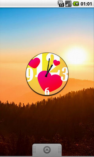 Heart Love Clock Widget