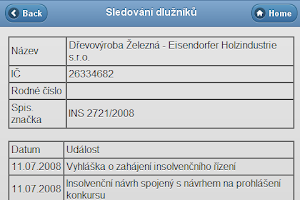 Screenshot of Dlužníci