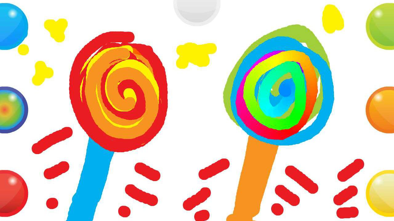 finger paint with sounds screenshot - Children Painting Images