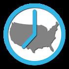 US Timezones clock icon