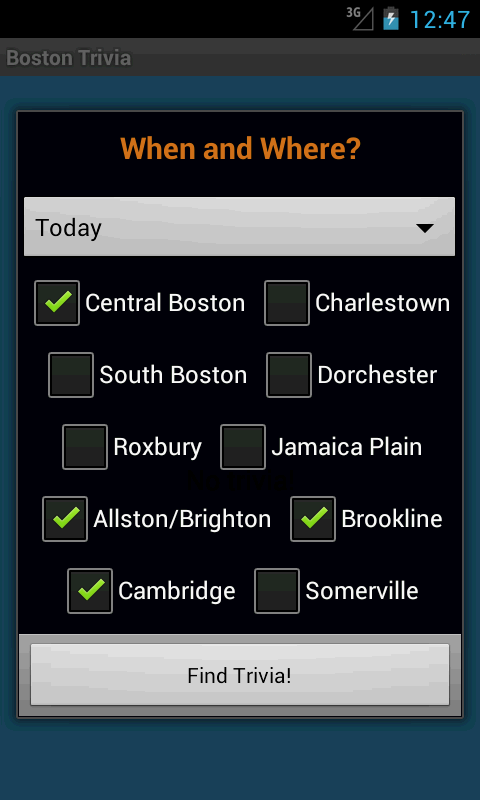 Boston Trivia Nights - screenshot