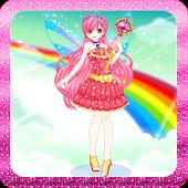 Rainbow fashion princess games