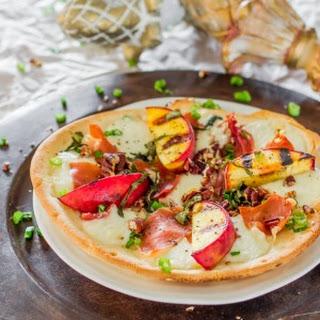 Grilled Peach and Prosciutto Flatbread