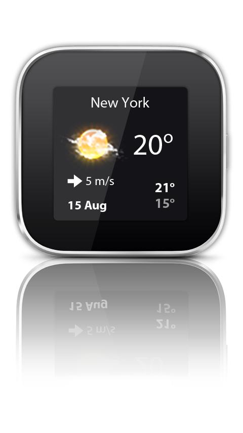 Weather widget Smart Extras™ - screenshot