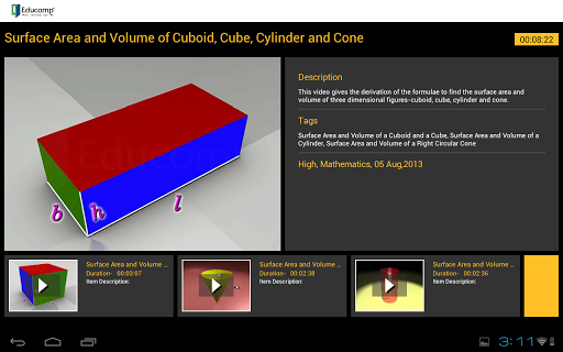 Surface area Volume of Cuboid