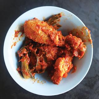 Ayam Masak Merah (Malay-Style Red-Cooked Chicken with Pandan).
