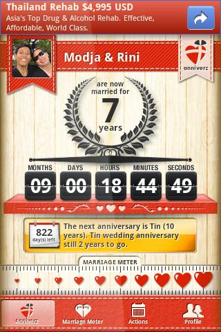 Marriage anniversary Alert - screenshot