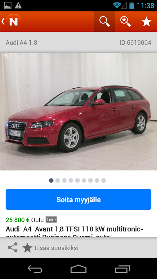 Nettiauto - screenshot