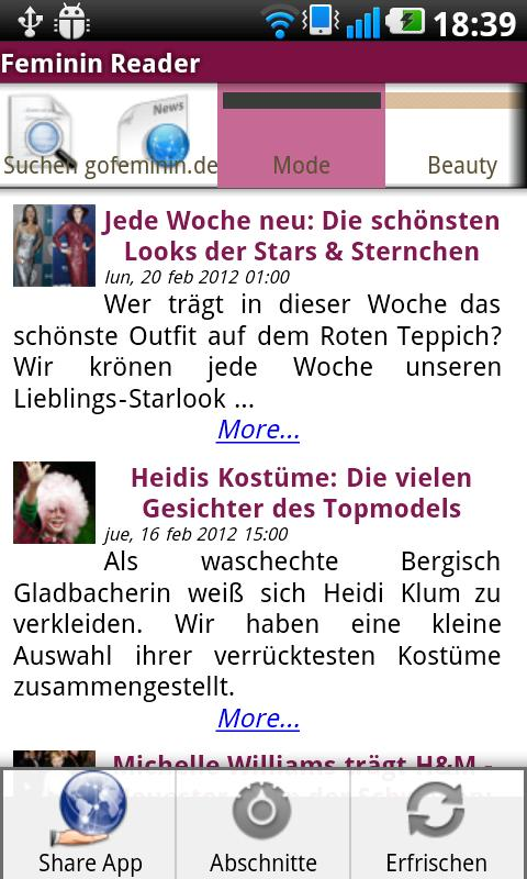Feminin Reader - screenshot