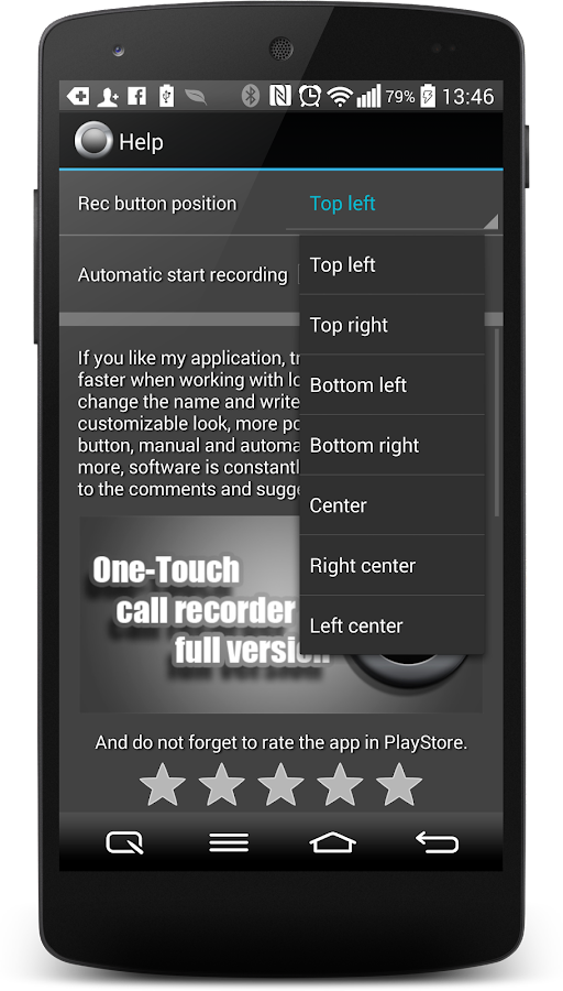 Call Recorder One Touch- screenshot