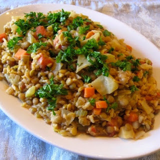 Hearty Cabbage and Lentils.