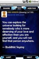 Screenshot of Buddha Quotes 2012