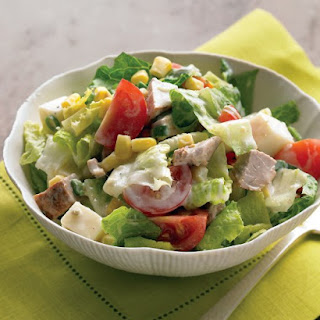 Chopped Salad with Spicy Pork and Buttermilk Dressing