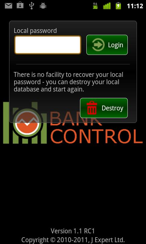 Bank Control UK Mobile Banking - screenshot