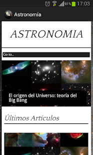 Astronomy App- screenshot thumbnail
