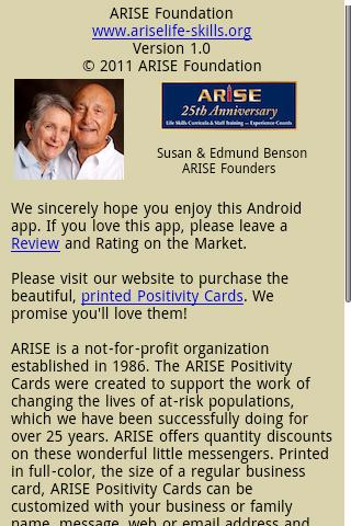 ARISE Positivity Cards- screenshot
