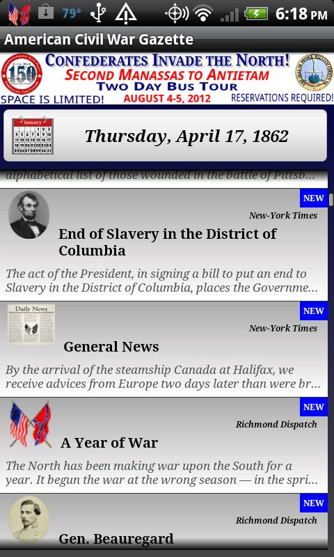 1862 July Am Civil War Gazette - screenshot
