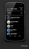 Screenshot of Transparent clock. widget LITE