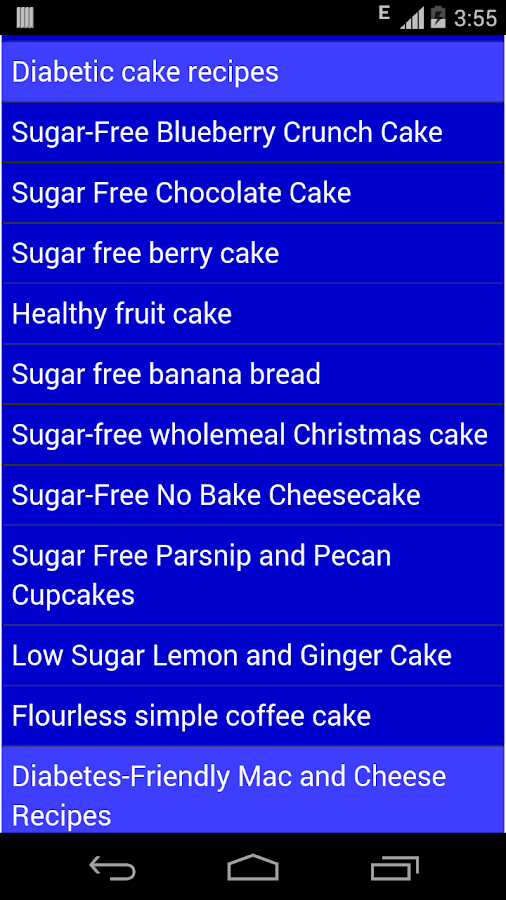 Diabetes cookbook- screenshot