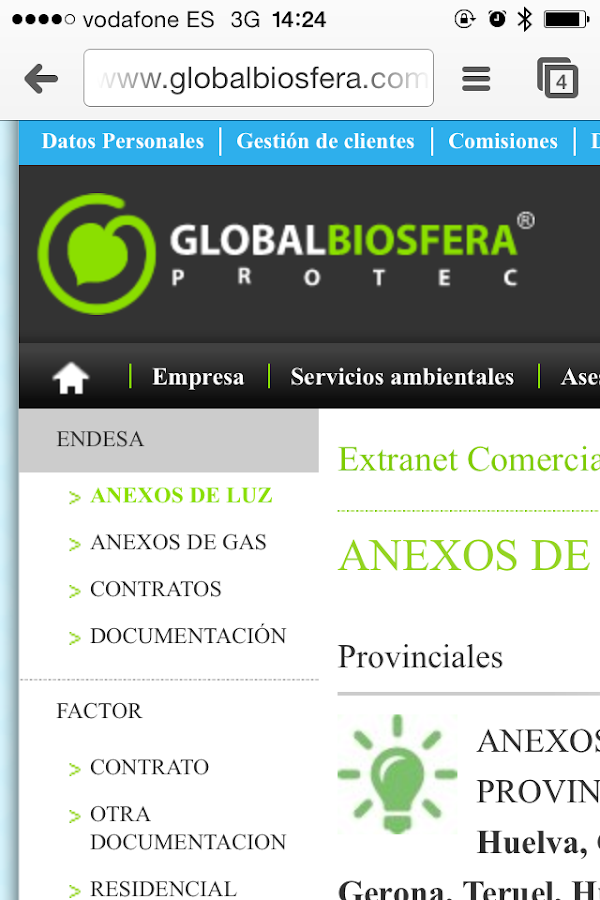 GLOBAL BIOSFERA ENERGIA: captura de pantalla