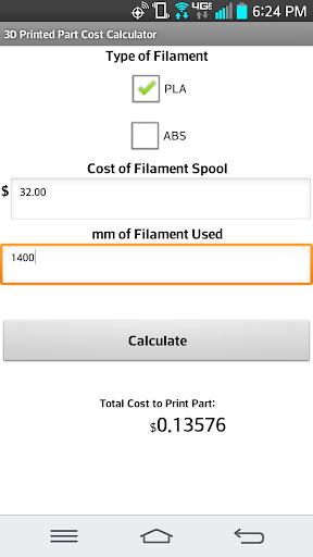 【免費生產應用App】3D Printing Cost Calculator-APP點子