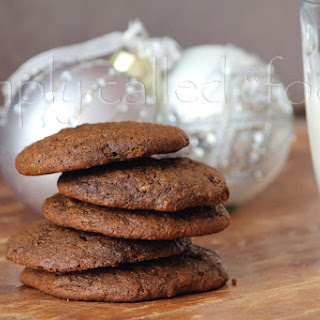 Vegan Chewy Molasses Cookies.