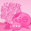 GO SMS Pro Theme Pink Animal icon