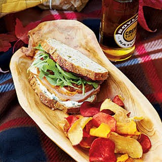Pancetta-Arugula-Turkey Sandwiches.