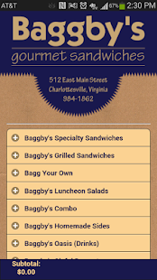 Baggby's Gourmet Sandwiches- screenshot thumbnail
