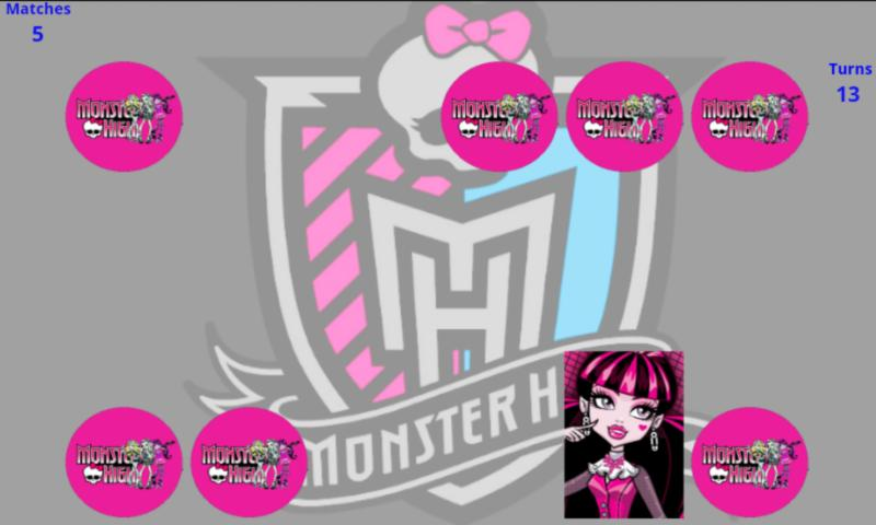 Monster High Memory   Screenshot