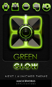 Next Launcher Theme Green Glow v4.40 [440]