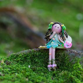 Flower snow fairy by Bernice Then - Artistic Objects Toys ( fairies, snow fairy, fairy, flower fairy, flower,  )