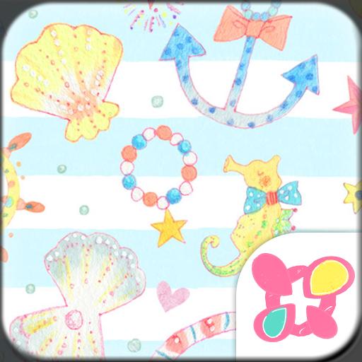 粉彩☆海濱 for[+]HOME 個人化 App LOGO-APP試玩