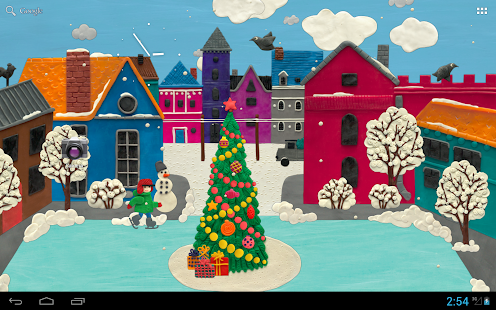 Winter town Live wallpaper HD- screenshot thumbnail