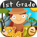 Animal First Grade Math Games icon