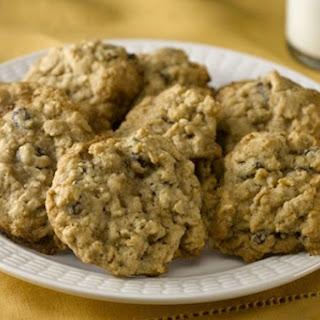 Hearty Oatmeal Raisin Cookies.