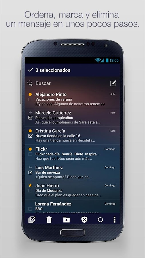 how to search yahoo mail on android