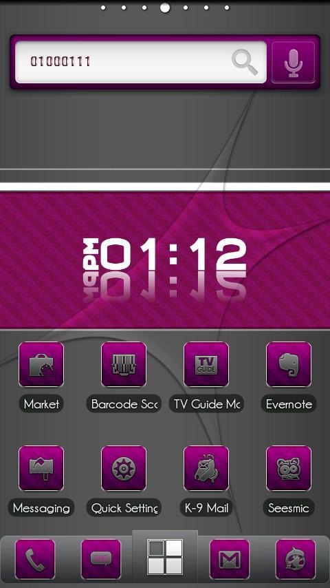 ADW Theme BinaryPink- screenshot