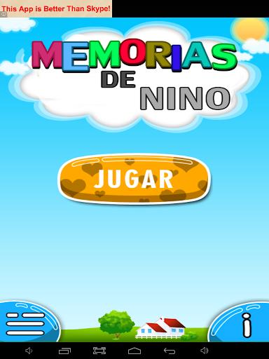 Kids memory -spanish